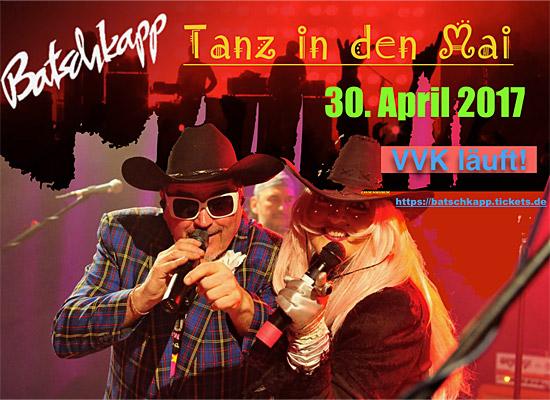 Roy Hammer & die Pralinees - Tanz in den Mai - 30.04.17 Batschkapp
